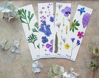 Marque page fleur, Fleur séchée, marque page illustré, Végétal, Papeterie fleur, Jolie papeterie, Imprimé fleur, Petit cadeau, Anniversaire