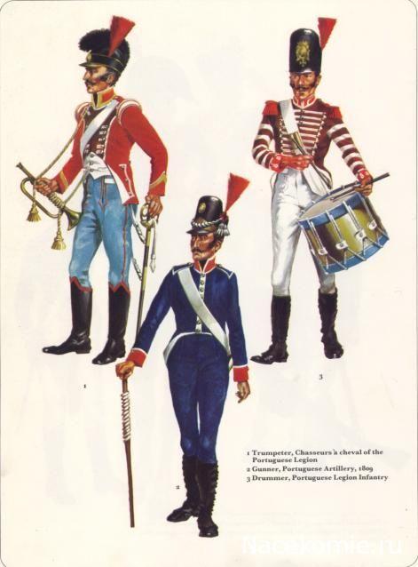 The Portuguese Legion 1 - Bugler of Light Cavalry 3 - Drummer of Infantry
