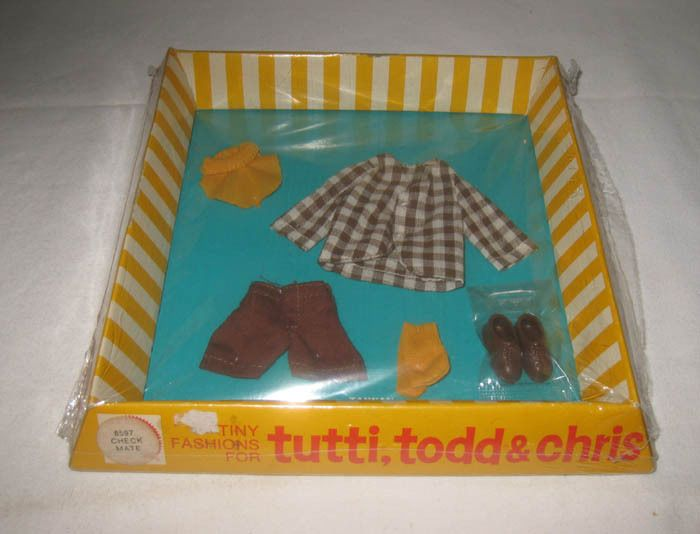1970's Vintage Mattel Todd Outfit #8597 Checkmates  MIB NRFB  MG132 #ClothingShoes