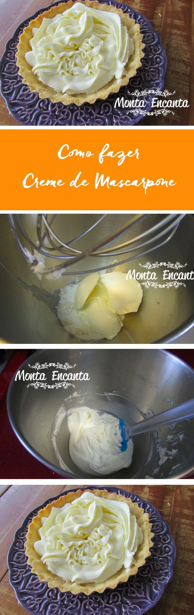 Como preparar Creme de Mascarpone em dois minutos! Fácil Fácil e delicioso!
