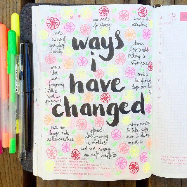 """La forma que yo he cambiado: En el centro pon """"La forma que yo he cambiado"""" Luego escribe 10 ideas de la forma (way) que tu has cambiado. Sigue el modelo. M. Melara"""