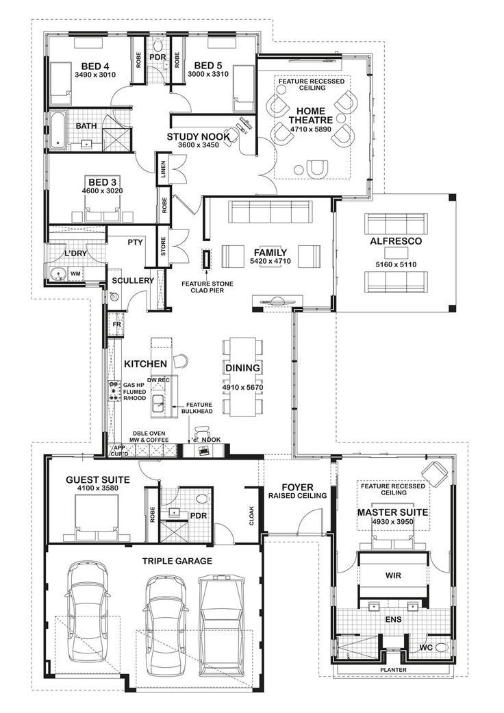 Very Cool Master Home Design Floor Plans House Layout Plans New House Plans