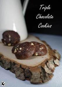 Triple Chocolate Cookies chilibluetendotcom #laktosefrei