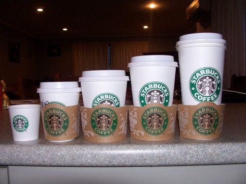 Artistic Starbucks Coffee Wallpaper with Various Cup Size Picture