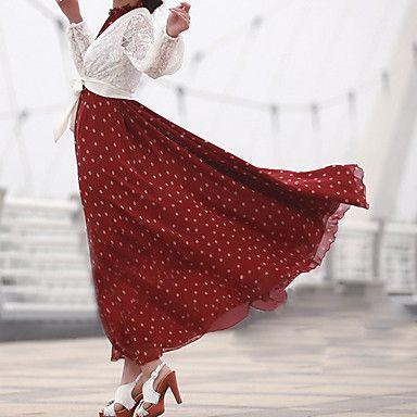 Plus Size Dot Chiffon Irregular Sleeveless Vest Loose Women Dress - USD $ 11.52