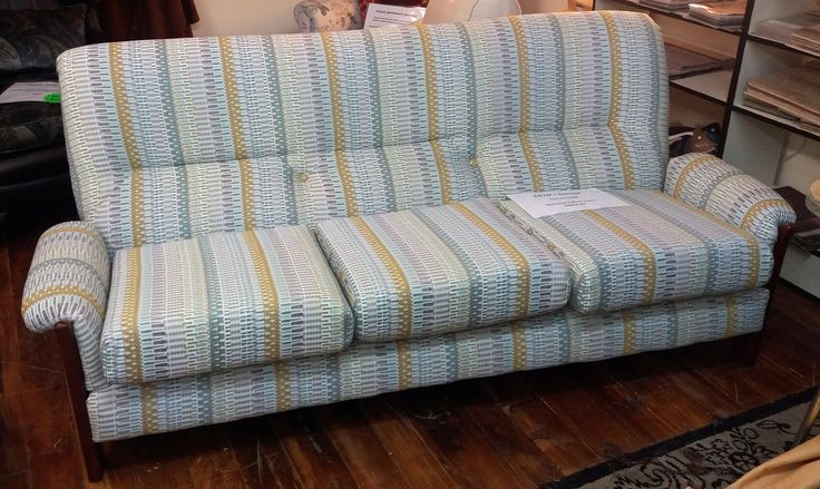 Recovered retro couch, great for a holiday home