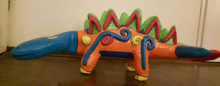 Dino gemaakt door mijn zoon. Cultuurcampus Abrona