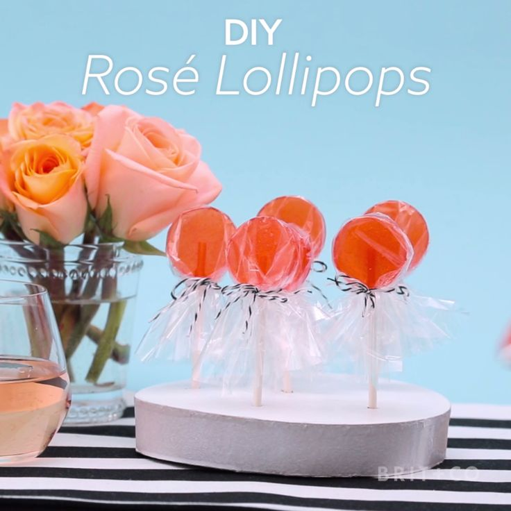 Watch this creative sweet treat DIY dessert video recipe tutorial to learn how to make a batch of Rosé Lollipops.