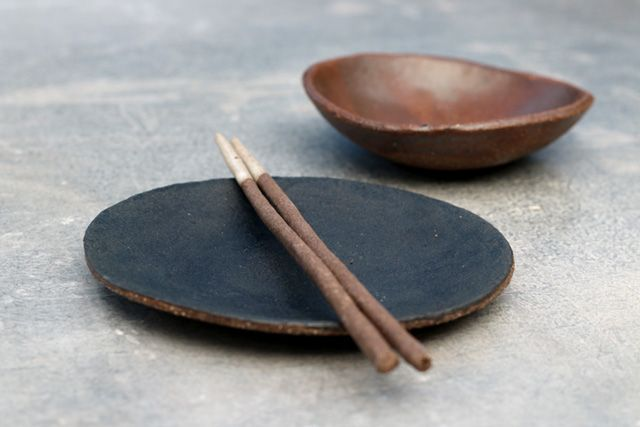 Stoneware pieces by Elke Lucas Ceramics