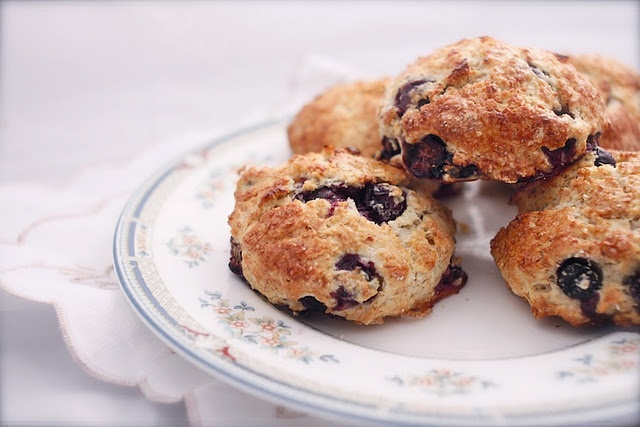 Yum, blueberry and almond scones