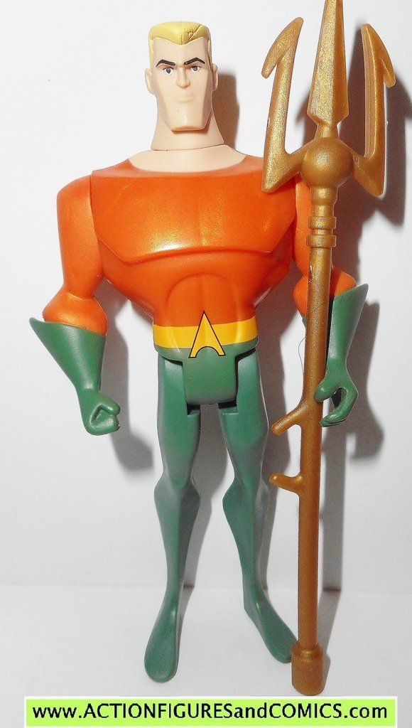 mattel toys action figures for sale to buy JUSTICE LEAGUE UNLIMITED (dc universe animated) AQUAMAN (Classic green/orange suit) *This is the authentic usa released mattel aquaman which had a low produc