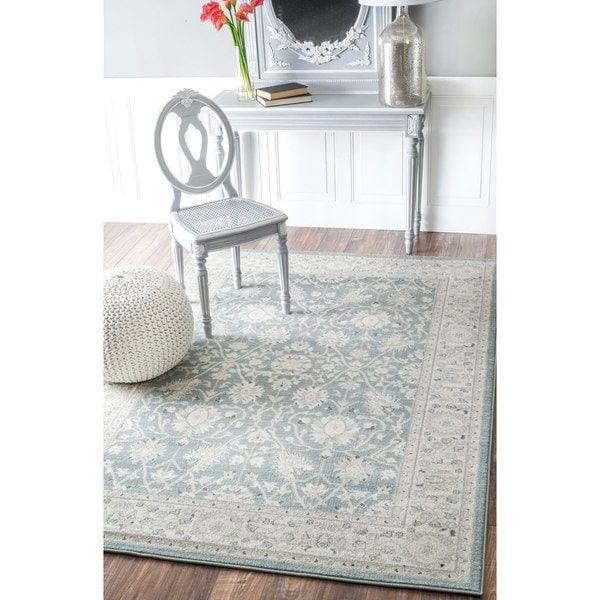 nuloom traditional persian vintage blue rug 7u002710 x