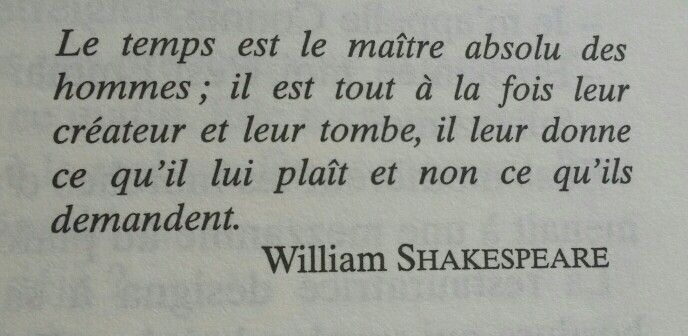 #Temps. #citation #shakespeare