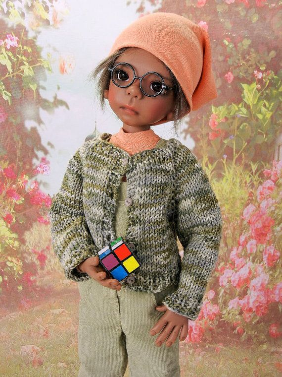 OOAK dungaree outfit for Kaye Wiggs 46 cm by Bellesdollfashions
