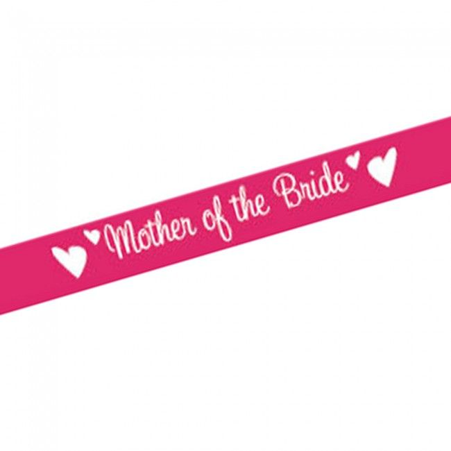 Pink Mother of the Bride Sash