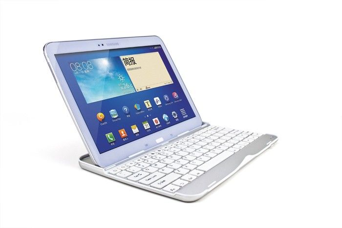 Samsung Galaxy TAB 3 Aluminium Keyboard Case Toetsenbord Wit