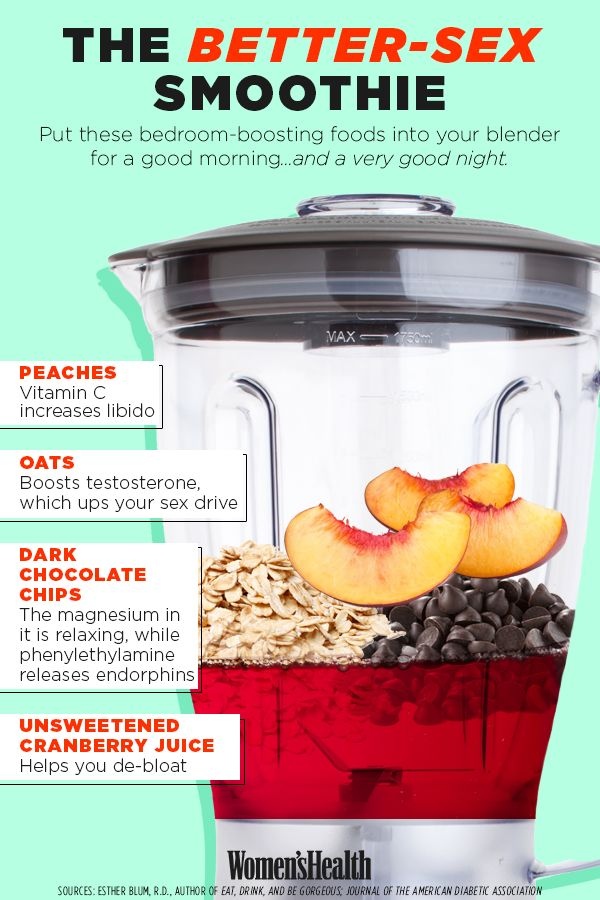 Drink This Smoothie for Better Sex  http://www.womenshealthmag.com/sex-and-relationships/smoothie-for-better-sex