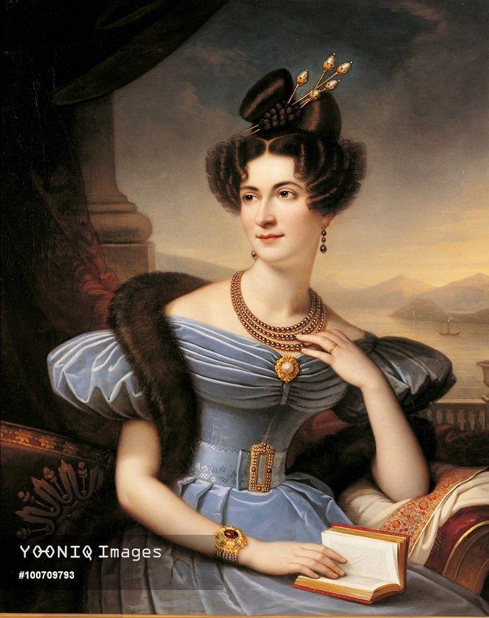 Portrait of Countess Emilia Sommariva Seilliere, by Boulanger Charles Boisfremont de, 19th Century, 1833