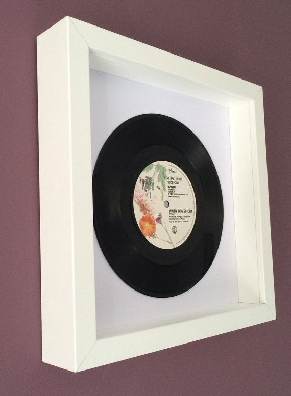 Prince When Doves Cry Framed Original Vinyl Gift With Images Vinyl Gifts Doves Cry Handmade