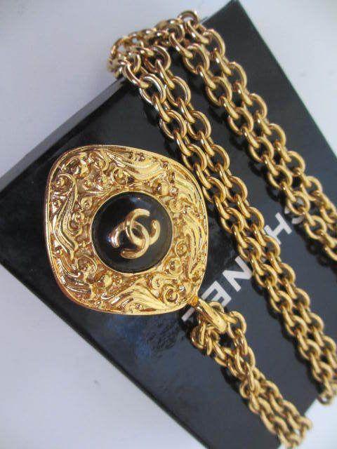 """Auth Chanel  pendant (Rhombus-CC)   Long necklace (34"""") #Chanel #Pendant"""