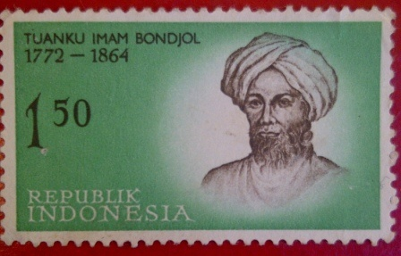 collection stamp series legend of heroes indonesia    Tuanku Imam Bondjol, 1772-1864