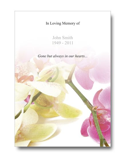 12 best Funeral Program Templates images on Pinterest - free memorial service program
