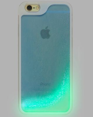 Cell Phone Cases - Blue Glow in the Dark Glitter Waterfall Phone Case - Welcome to the Cell Phone Cases Store, where you'll find great prices on a wide range of different cases for your cell phone (IPhone - Samsung)