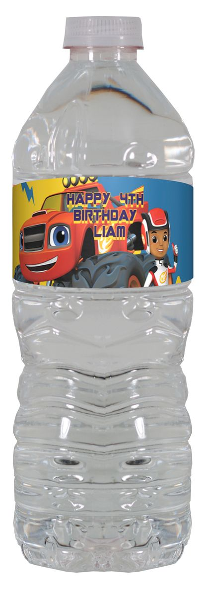 Blaze and the monster machines personalized water bottle labels – worldofpinatas.com