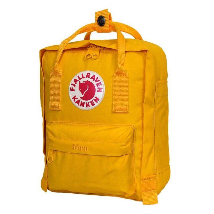 Sac à dos mini KANKEN jaune FJALL RAVEN pour enfant - Maralex Kids