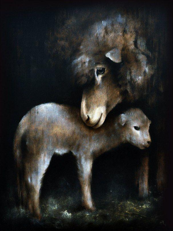 'Motherhood' board, oil & acrylic colour, 38×50 2014