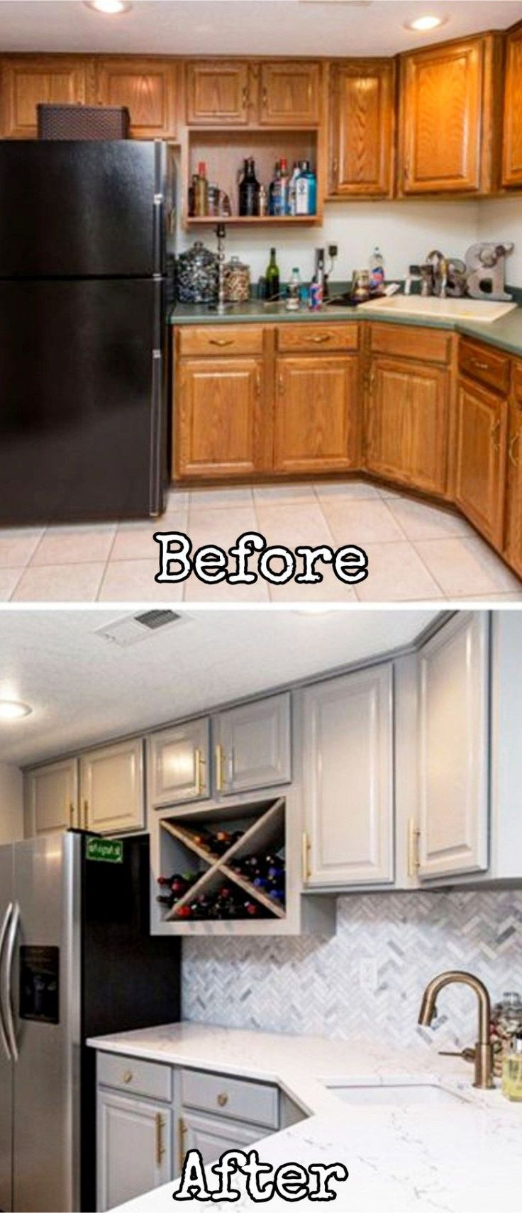 Small kitchen remodel - before and after pictures of small kitchen makeovers