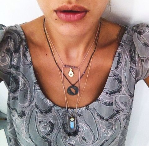 Necklace choices  @my_greek_me #shop #Rhodes #oldtown #Greece                            ********* Gold plated necklace with semi precious stones by @fishbone_design ~ black rhodium custom made necklace by @_bubblebox_ ~ evil eye chocker by @mylifelikes.gr          #necklaces #handmade #greekdesigners #madeingreece #style #fashion #summer15