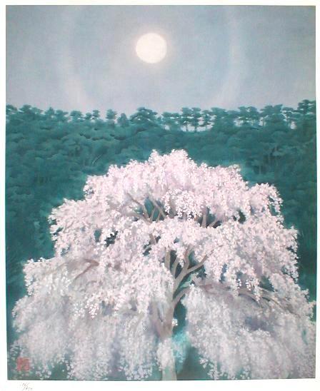 東山魁夷 Kaji Higashiyama『花明り』
