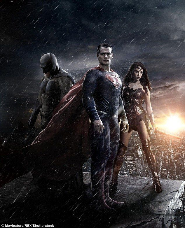 Long awaited: The new film sees Superman, Batman, and Wonder Woman team up to defeat a new...