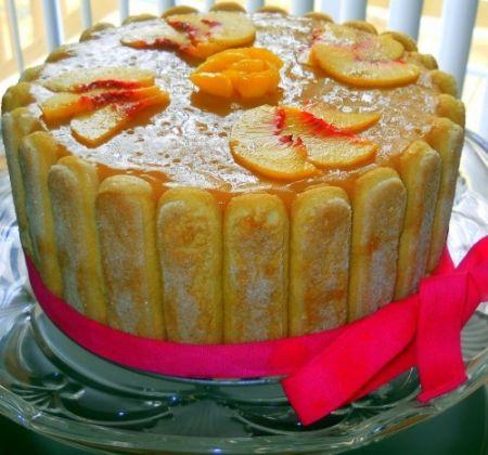 Торт - Персиковая шарлотка