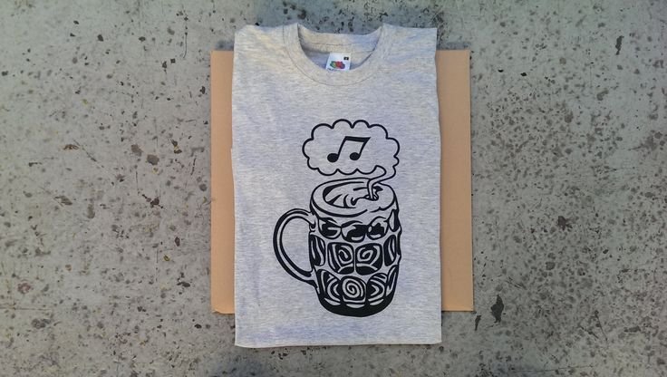 Cosmic Pint Glass T-shirt - Note (Black on Heather Grey) main photo
