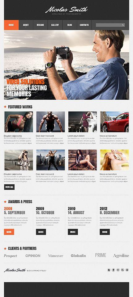 Photographer Portfolio Joomla Template #photo #gallery #website http://www.templatemonster.com/joomla-templates/44157.html?utm_source=pinterest&utm_medium=timeline&utm_campaign=photo