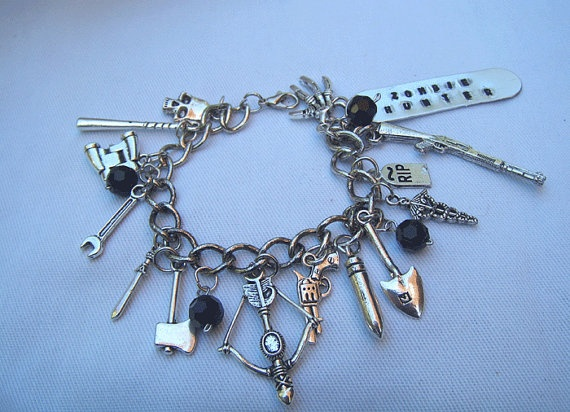 Hey, I found this really awesome Etsy listing at http://www.etsy.com/listing/153122291/zombie-bracelet-zombie-jewelry-zombie