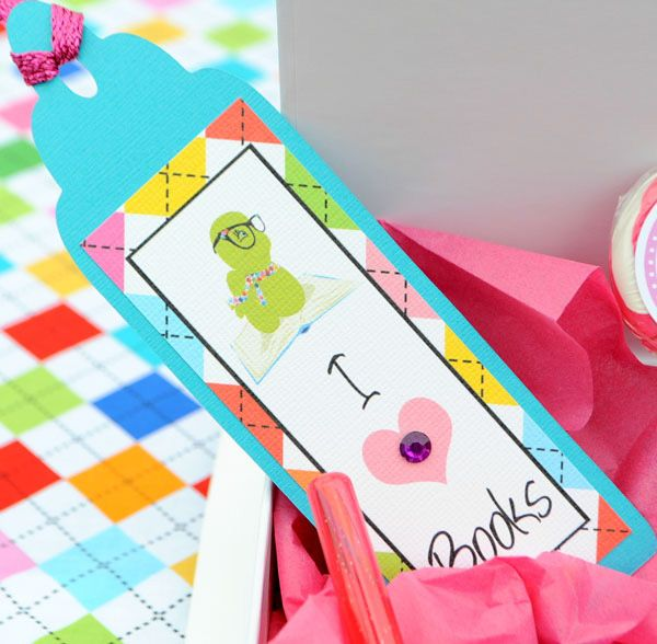 bookworm theme birthday party... fun activity and favor - make your own book-marks!