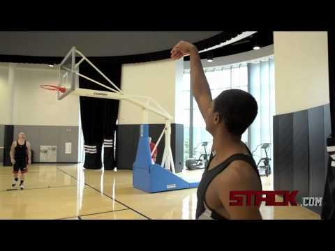 NBA point guard Brandon Knight takes a break from the 2011 adidas Rookie Orientation to show his favorite spot shooting drill.
