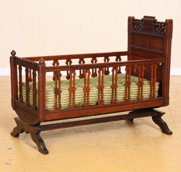 19th C Eastlake Victorian cradle  solid walnut  b  Victorian FurnitureVictorian  InteriorsVictorian DecorAntique FurnitureBaby. 77 best CRADLE images on Pinterest   Antique furniture  Baby
