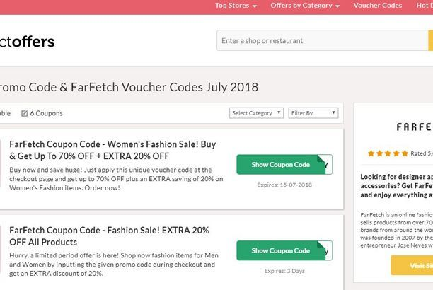 Farfetch Promo Code Collect Offers Hotel Promo Codes Voucher