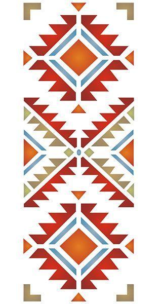 Navajo Four Corners Stencil: