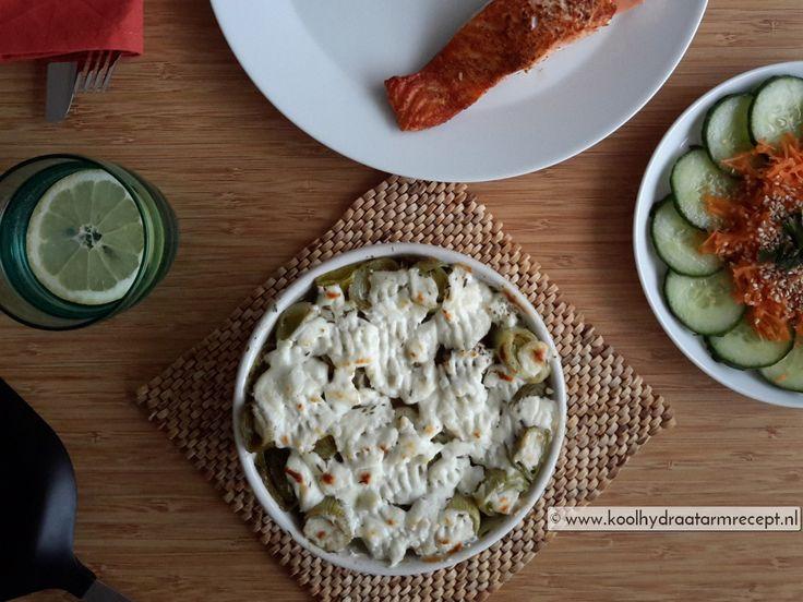 Prei met geitenkaas smaakt heerlijk bij vegetarische worstjes of vis. Een…