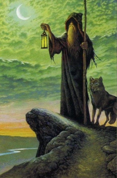 IX. The Hermit: Druid Craft Tarot