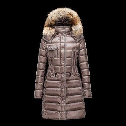 MONCLER Down Jackets Fur Blended Fabrics Plain Long Elegant Style Down Jackets 6