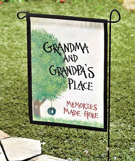 Grandma & Grandpa's Garden Flags|The Lakeside Collection