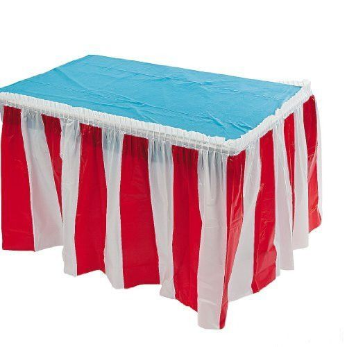 This eye-catching table decoration is perfect for a number of festivities and celebrations. Perfect for carnival decorations, summer picnics, Halloween parties, 4th of July parties, fall festival deco