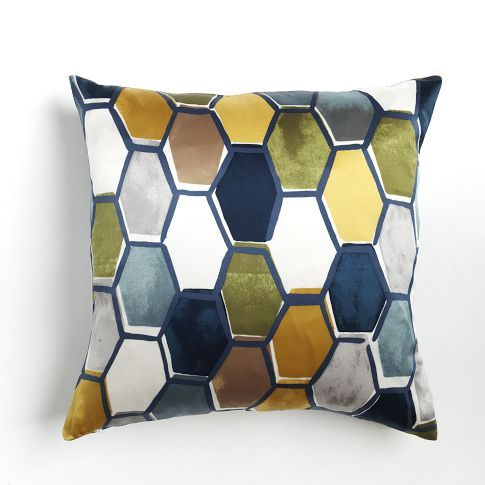 Honeycomb Tile Silk Pillow Cover #WestElm