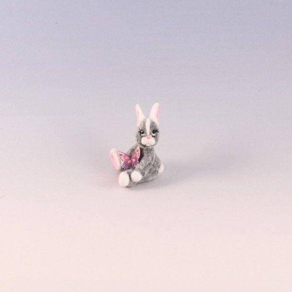 OOAK~Bunny Rabbit~Butterfly~Miniature~Dollhouse Toy~Artist Doll~Cheryl Brown  #CherylBrown